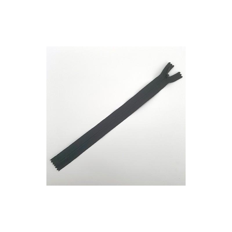 Fermeture à glissière invisible 22 cm Noir