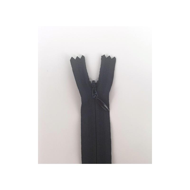 Fermeture à glissière invisible 40 cm noir