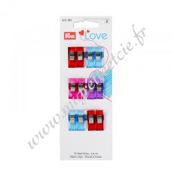 Pinces à tissu Prym Love 2,6 cm, Migrette et cie