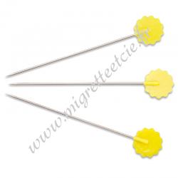 Epingles quilting tête de fleur jaune Prym - 028520, Migrette et cie
