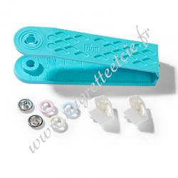 Boutons pression Prym Love Jersey, 8mm, rose/bleu clair/perle - 390700, Migrette et cie
