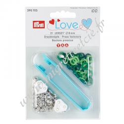 Boutons pression Prym Love Jersey, 8mm, vert - 390703, Migrette et cie