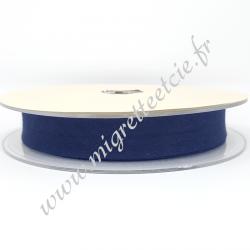 Biais Coton, 20mm, Bleu Foncé, Migrette et Cie