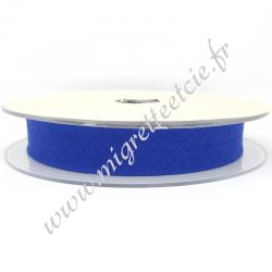 Biais Coton, 20mm, Bleu Royal, Migrette et Cie