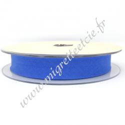 Biais Coton, 20mm, Bleu Jean, Migrette et Cie