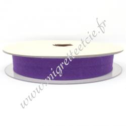 Biais Coton, 20mm, Violet, Migrette et Cie