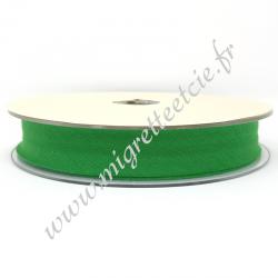 Biais Coton, 20mm, Vert, Migrette et Cie