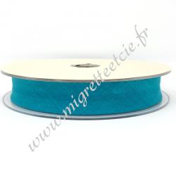 Biais Coton, 20mm, Turquoise, Migrette et Cie