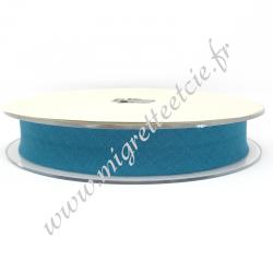 Biais Coton, 20mm, Turquoise Foncé, Migrette et Cie