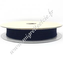 Biais Coton, 20mm, Bleu Marine, Migrette et cie