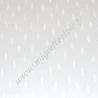 Tissu coton blanc cassé imprimé plumes -