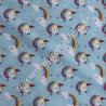 Tissu Coton imprimé Licorne, Migrette et Cie