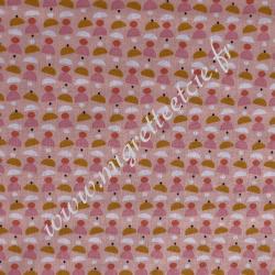 Coton rose imprimé Cupcake, Migrette et Cie