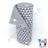 Essuie-tout lavable, coton imprimé triangle, éponge grise, Migrette et Cie