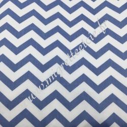 Tissu coton imprimé Chevrons bleu, Migrette et Cie