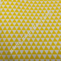 Tissu coton imprimé Petits triangles jaune, Migrette et Cie