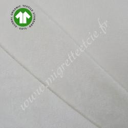Micro-éponge de coton bio monoface écru,   certifié Oeko-tex, Migrette et Cie