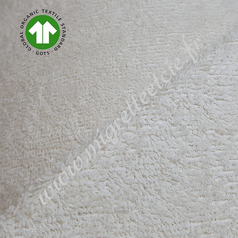 Eponge de coton écru, 100% biologique certifié GOTS, Migrette et Cie, www.migretteetcie.fr