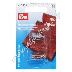 Fermoir magnétique, 19mm, argenté, PRYM, Migrette et Cie