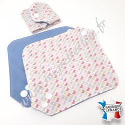 Protège slip lavable, coton bio imprimé papillons, Migrette et Cie