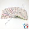 Lingettes lavables, coton imprimé papillons, éponge de bambou rose, verte et bleue, Migrette et Cie