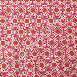 Coton enduit imprimé Malawa Fuchsia Violet, Migrette et Cie
