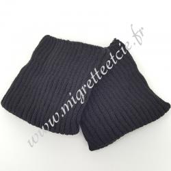 Sachet de 2 poignets bord côte – Noir -
