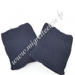 Sachet de 2 poignets bord côte – Bleu marine, Migrette et Cie