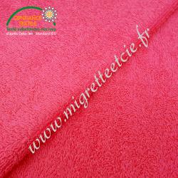 Eponge de coton fuchsia, certifié 100% Oeko-tex, Migrette et Cie