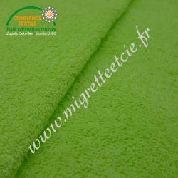 Eponge de coton vert pistache, certifié 100% Oeko-tex, Migrette et Cie