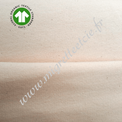 Tissu molleton Bio pour sweat peach blush, GOTS, Migrette et Cie