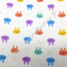 Tissu coton imprimé Tête de lapins, Migrette et Cie
