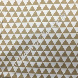 Tissu coton imprimé Petits triangles beige, Migrette et Cie
