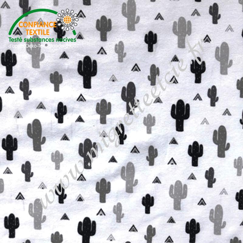 Jersey imprimé Cactus, Migrette et Cie