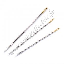 Aiguilles à coudre assorties demi-longues avec chas doré No. 3-7, Prym , Migrette et Cie, Prym 121305