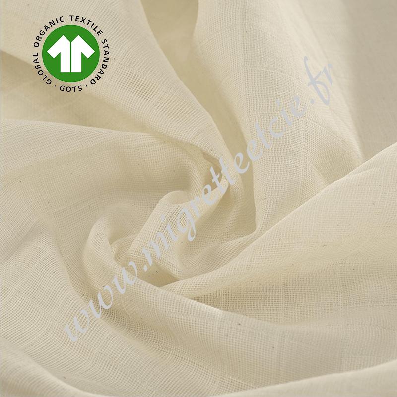 Tissu Tetra coton bio -