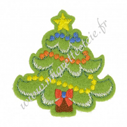 Écusson brodé sapin de Noël, Migrette et Cie