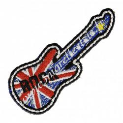 Écusson brodé Guitare Union Jack, Migrette et Cie