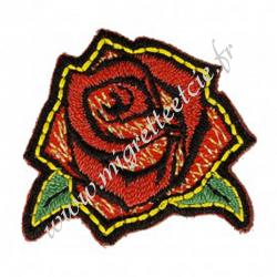 Écusson brodé Rose, Migrette et Cie