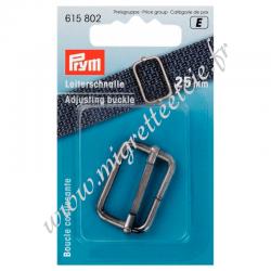 Boucle de réglage 25mm, en métal argenté, Prym, Migrette et Cie, Prym 615802