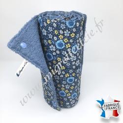Essuie-tout lavable, coton imprimé Anisley Bleu, éponge bleu, Migrette et Cie