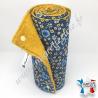 Essuie-tout lavable, coton imprimé Anisley Bleu, éponge moutarde, Migrette et Cie