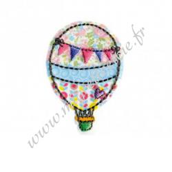 Écusson brodé Ballon Multicolore, Migrette et Cie