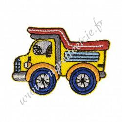 Écusson brodé Camion jaune, Migrette et Cie