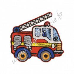 Écusson brodé Camion Pompier Rouge, Migrette et Cie