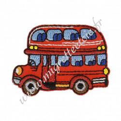 Écusson brodé Bus anglais rouge, Migrette et Cie