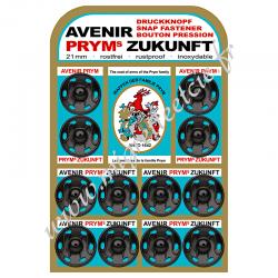 Boutons pression à coudre, 21mm, noir, Prym, Migrette et Cie, Prym 341137