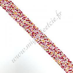 Biais 25mm, coton, liberty rose, Migrette et Cie