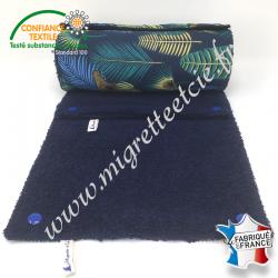 Essuie-tout lavable, coton imprimé Jangal, éponge bleu nuit, Migrette et Cie