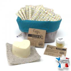 Lingettes lavables, Savon et Baume lèvres à la vanille -